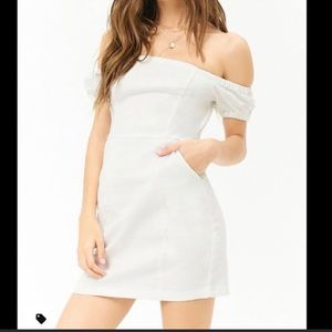 Forever 21 contemporary woven dress in white